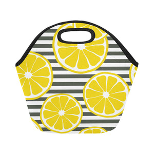 Fresh lemons Neoprene Lunch Bag/Small (Model 1669)