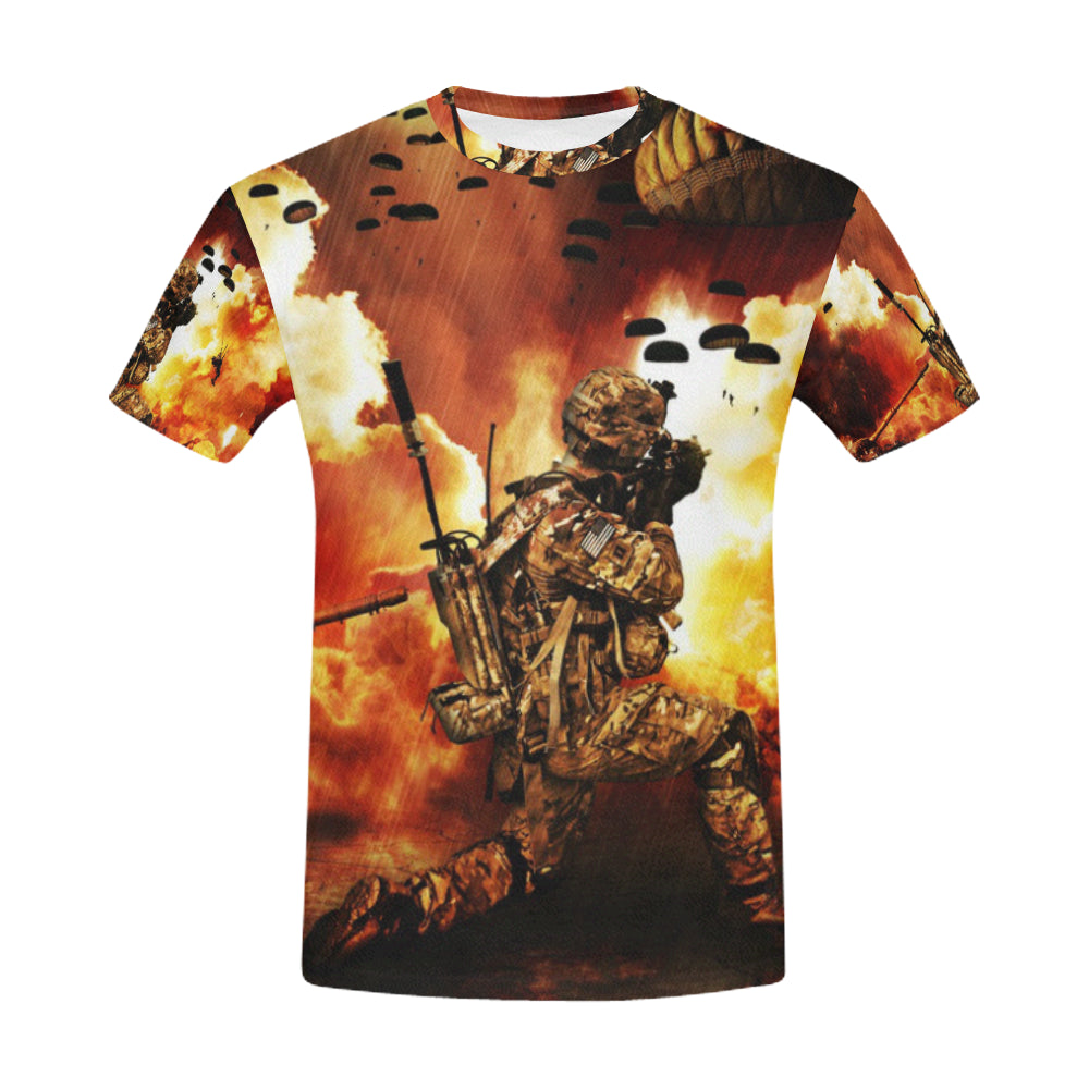 War Venue All Over Print T-Shirt for Men (USA Size) (Model T40)
