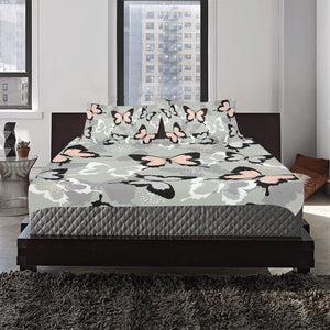 Spring And Summer Tropical Butterfly 3-Pieces Bedding Set