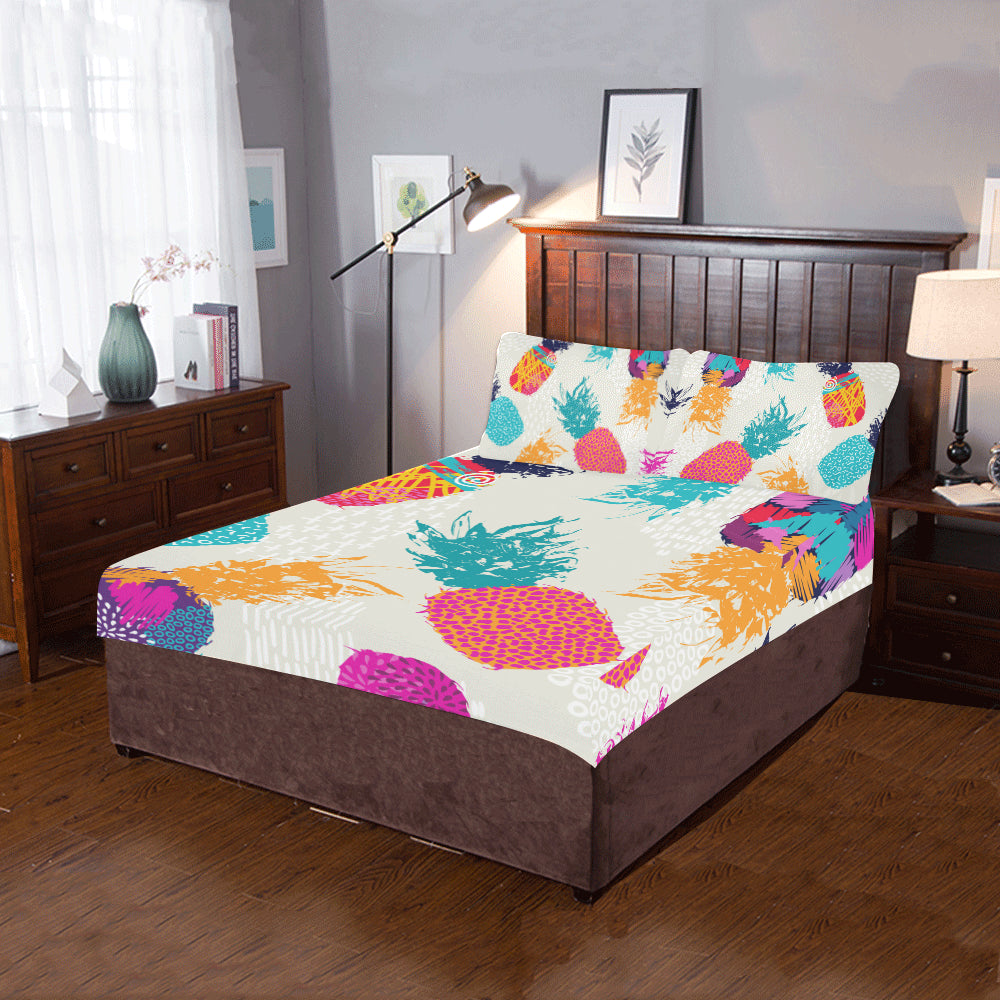 Pineapple Fruit 3-Pieces Bedding Set
