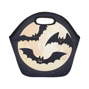 Cute flying and smiling Bats Neoprene Lunch Bag/Small (Model 1669)
