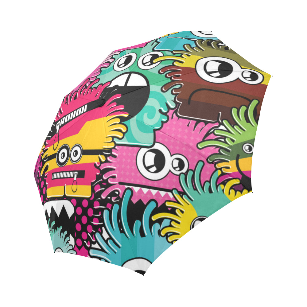 Monsters Auto-Foldable Umbrella