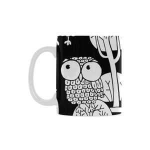 Black And White Owls White Mug(11OZ)