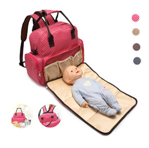 Cute Polyester Backpack Diaper Bag - Hipster Family