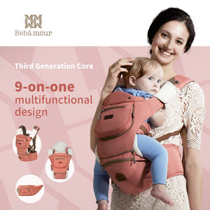 Luxury 9 in 1 Hipster seat Ergonomic Baby Sling - Hipster Family