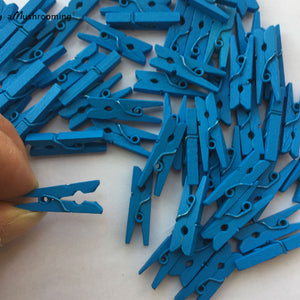 25 Cute Mini Royal Blue Clothespins Baby Shower Party