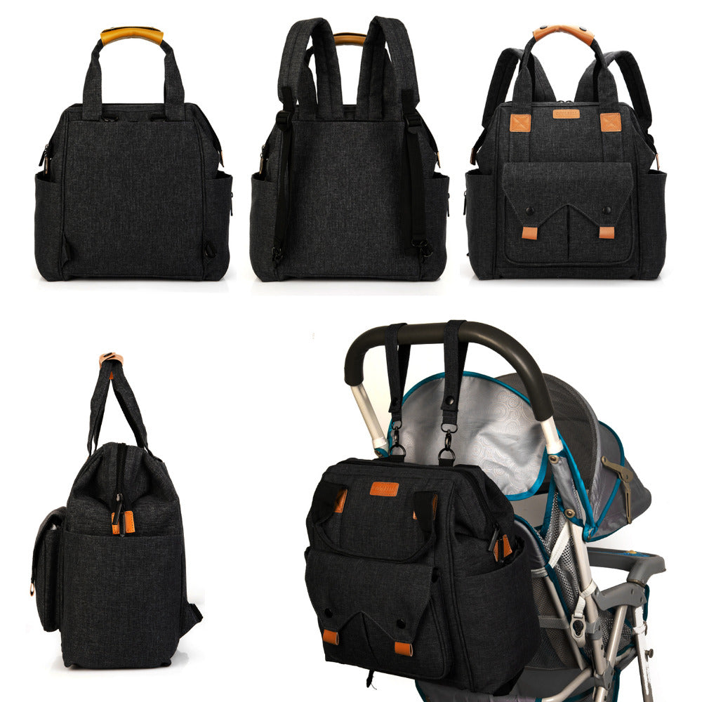 Daddy Backpack Baby Diaper Bag Includes Changing Pad