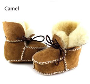 Sheepskin Genuine Leather Wool Moccasins
