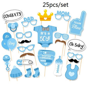 25-30Pc Baby Shower Photo Booth Props Baby Shower Party