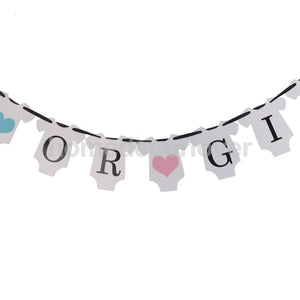 BOY OR GIRL? Banner Sign Baby Shower Party Games Favors Decoration