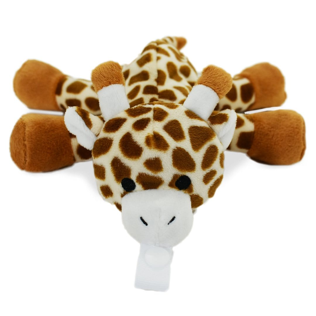 Giraffe Plush Pacifier Holder Stuffed Animal For Babies