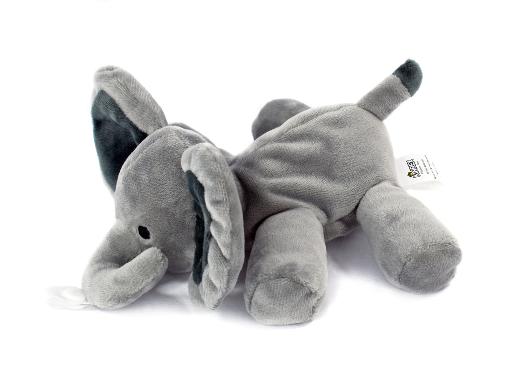 Grey Elephant Plush Pacifier Holder - Stuffed Animal Pacifier - KINREX LLC