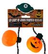 Pumpkin LED Necklace, Light Up Jack O Lantern Necklace