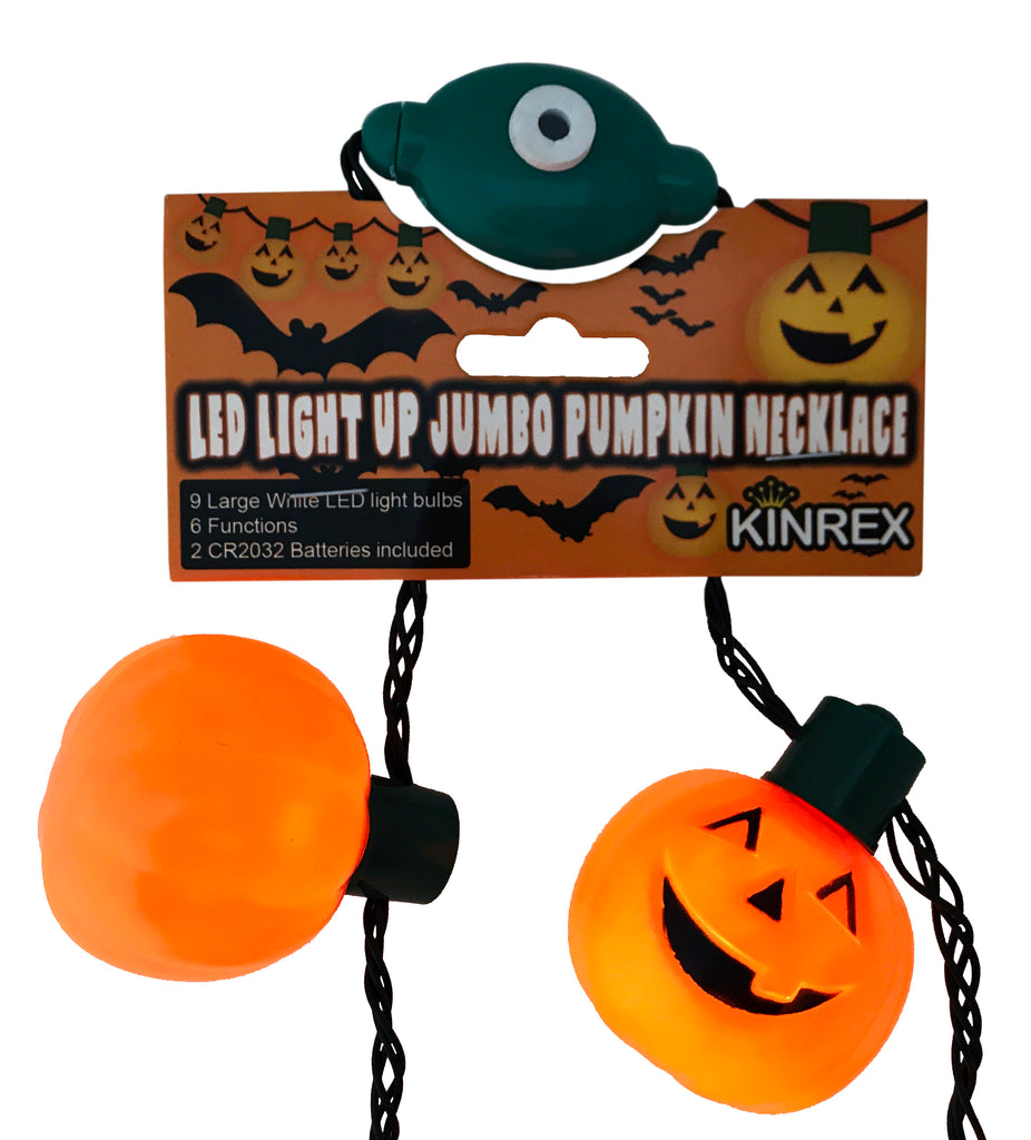 Pumpkin Led Necklace - Pumpkin Necklace - Light Up Jack O Lantern Necklace - KINREX LLC