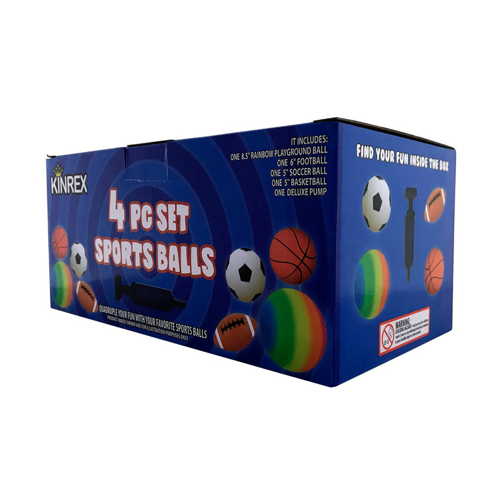 Sports Ball Set - Set Of Soft Sports Balls For Kids - KINREX LLC