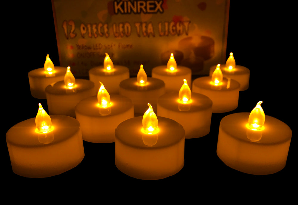 Flameless Tealight Candles - Led Votive Candles
