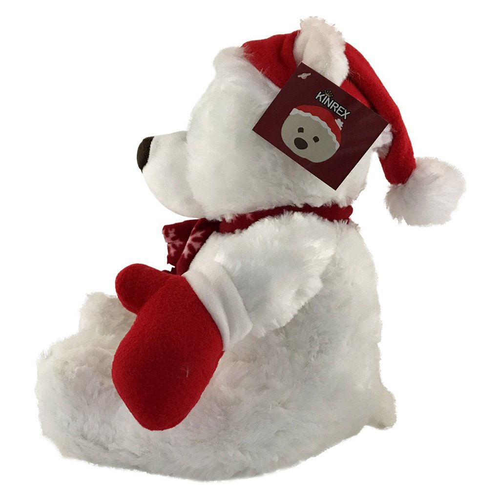 Christmas Teddy Bear - Stuffed Animal For Christmas - White Teddy Bear