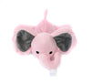 Pink Elephant Plush Pacifier Holder Stuffed Animal Toy