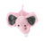Elephant Stuffed Plush Animal Baby Pacifier Holder for Babies - Soft Plush Toys for Newborn Boys and Girls - Pink - Measures 18 cm. / 7.09 inches …