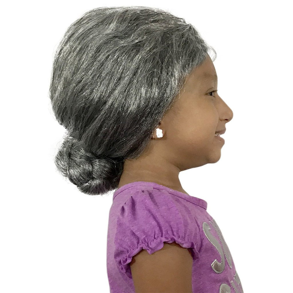 Grey Hair Wig - Grandma Wig - Old Lady Wig For Adults, Teens And Kids