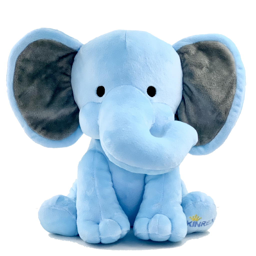 Blue Elephant Stuffed Animal - Plush Elephant Toy - Plush Toy - KINREX LLC