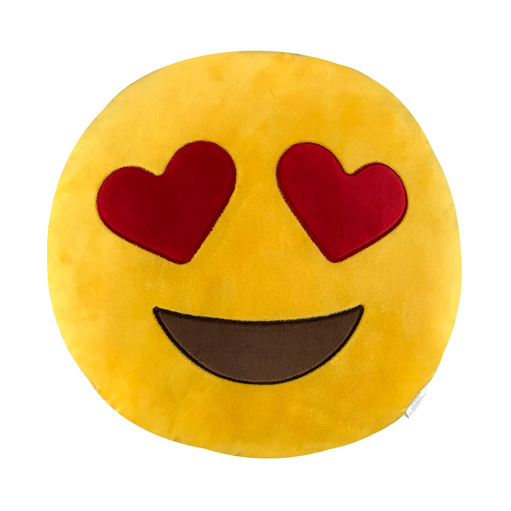 Heart Eyes Emoji Pillow - 35 cm. - KINREX LLC