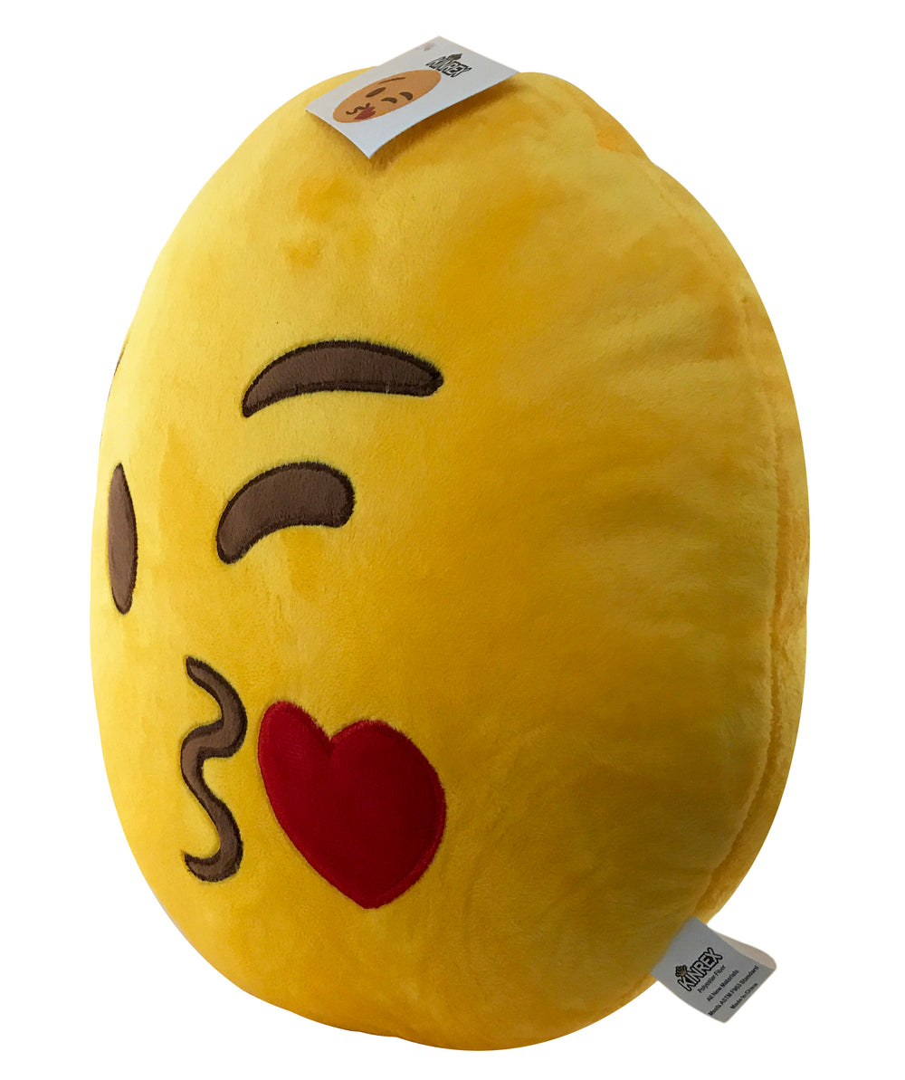 Blow Kiss Emoji Pillow - Decorative Pillow