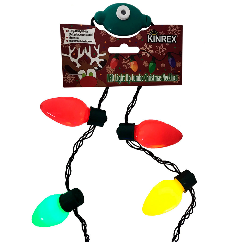 Christmas Light Necklace, Light Up Christmas Necklace - KINREX LLC
