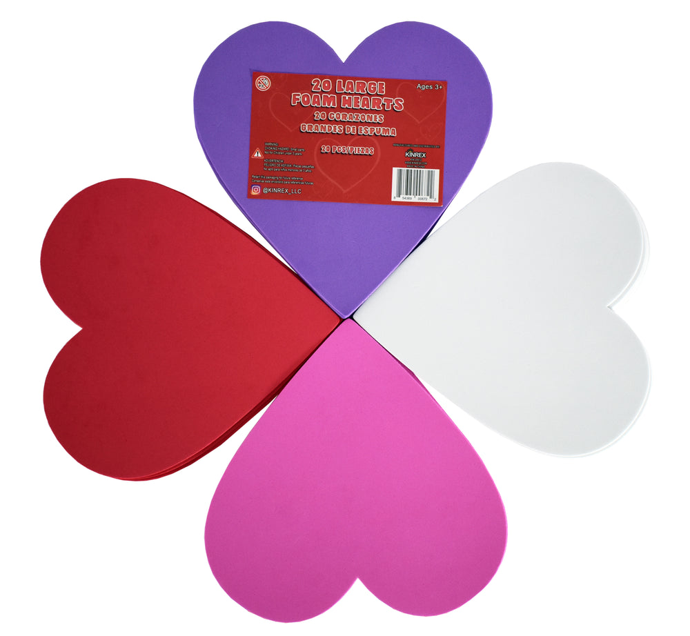 Foam Hearts - Valentine's Day Party Decorations - Heart Decorations