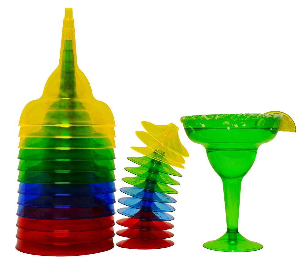 Margarita Glasses - Plastic Margarita Glasses - Plastic Cups - KINREX LLC