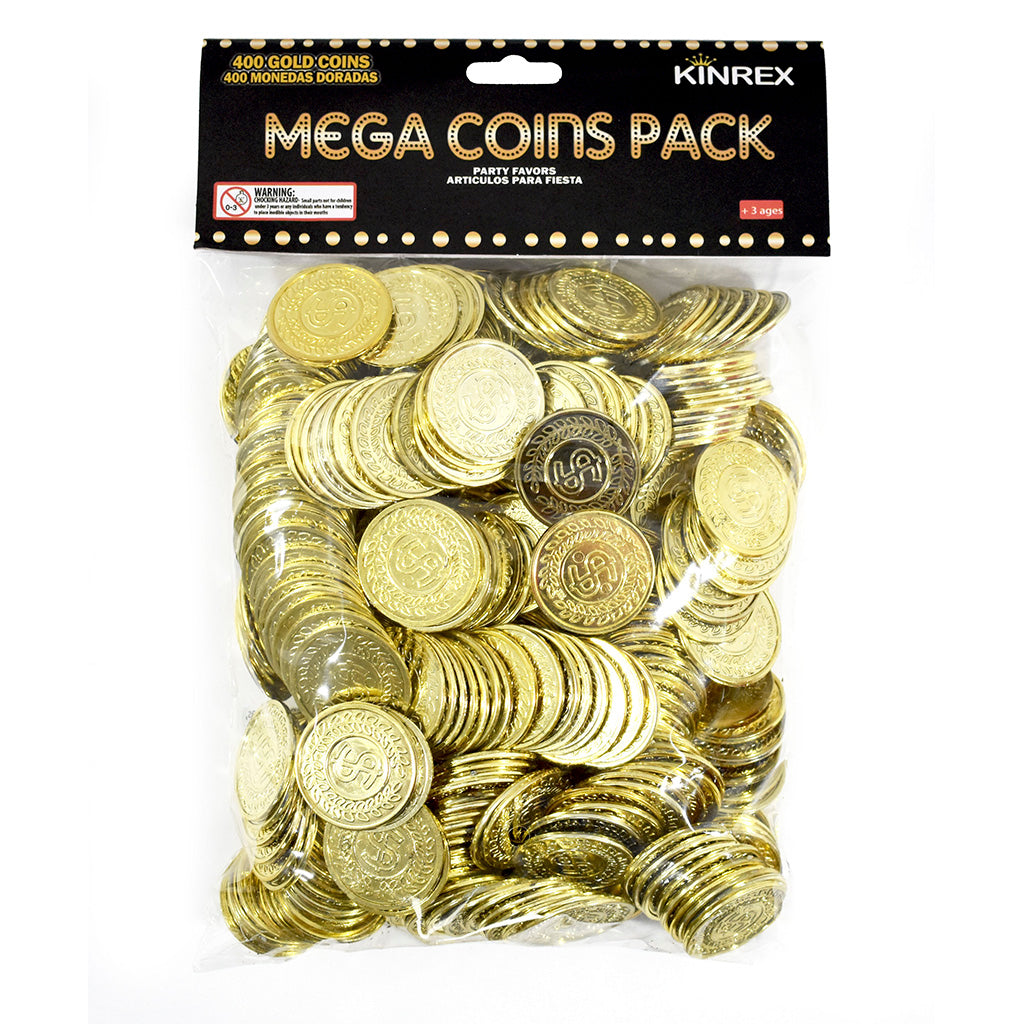 Plastic Gold Coins - 400 Count
