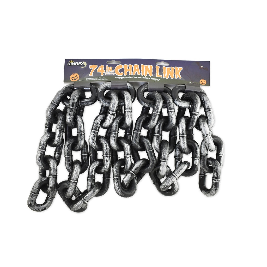 Plastic Chain - Halloween Plastic Chain - Grey And Black Chain - KINREX LLC