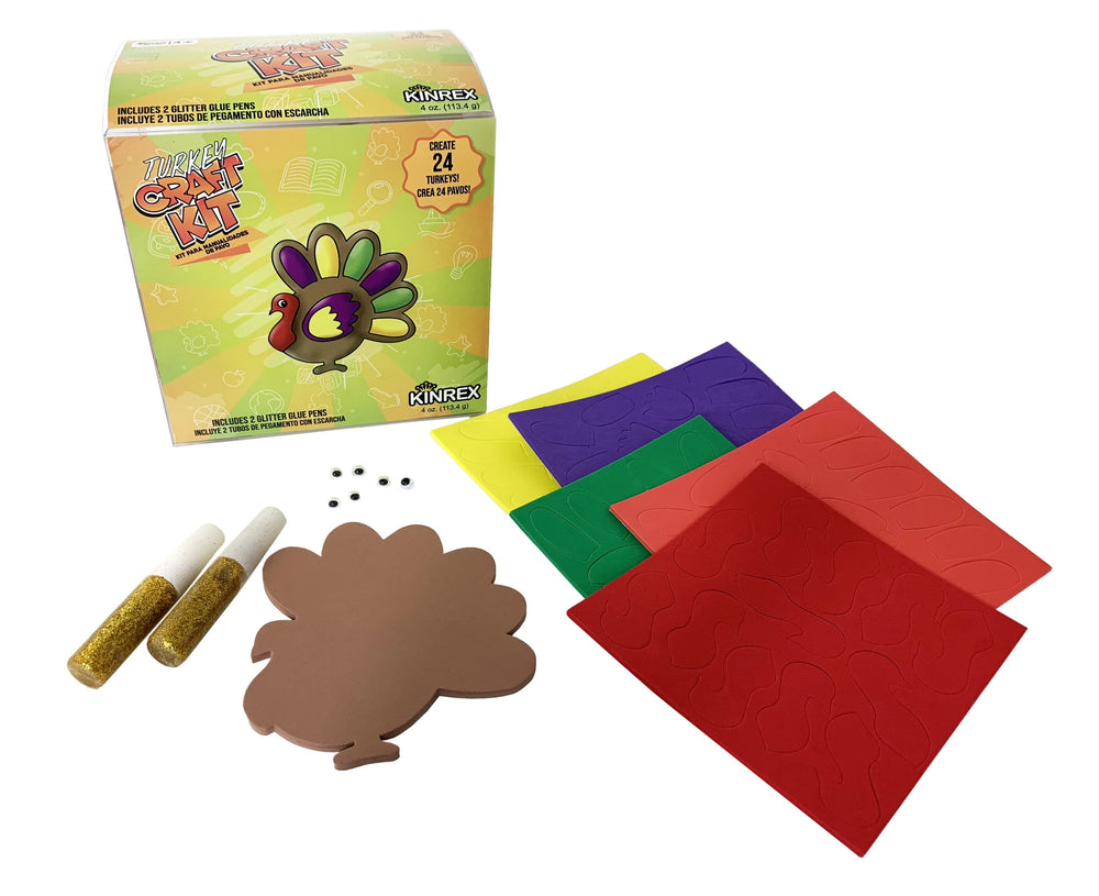 Thanksgiving Turkey Craft - Thanksgiving Decorations Kit - KINREX LLC