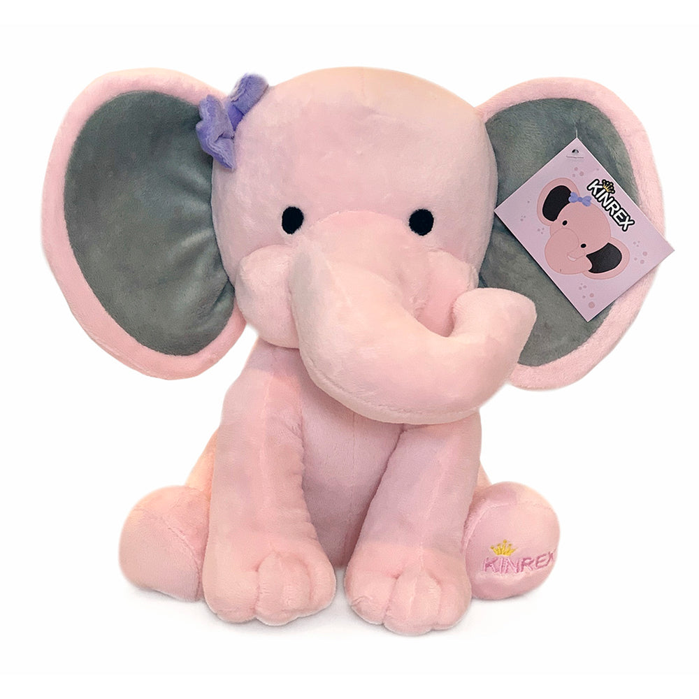 KINREX Pink Stuffed Elephant For Baby, Elephant Plush