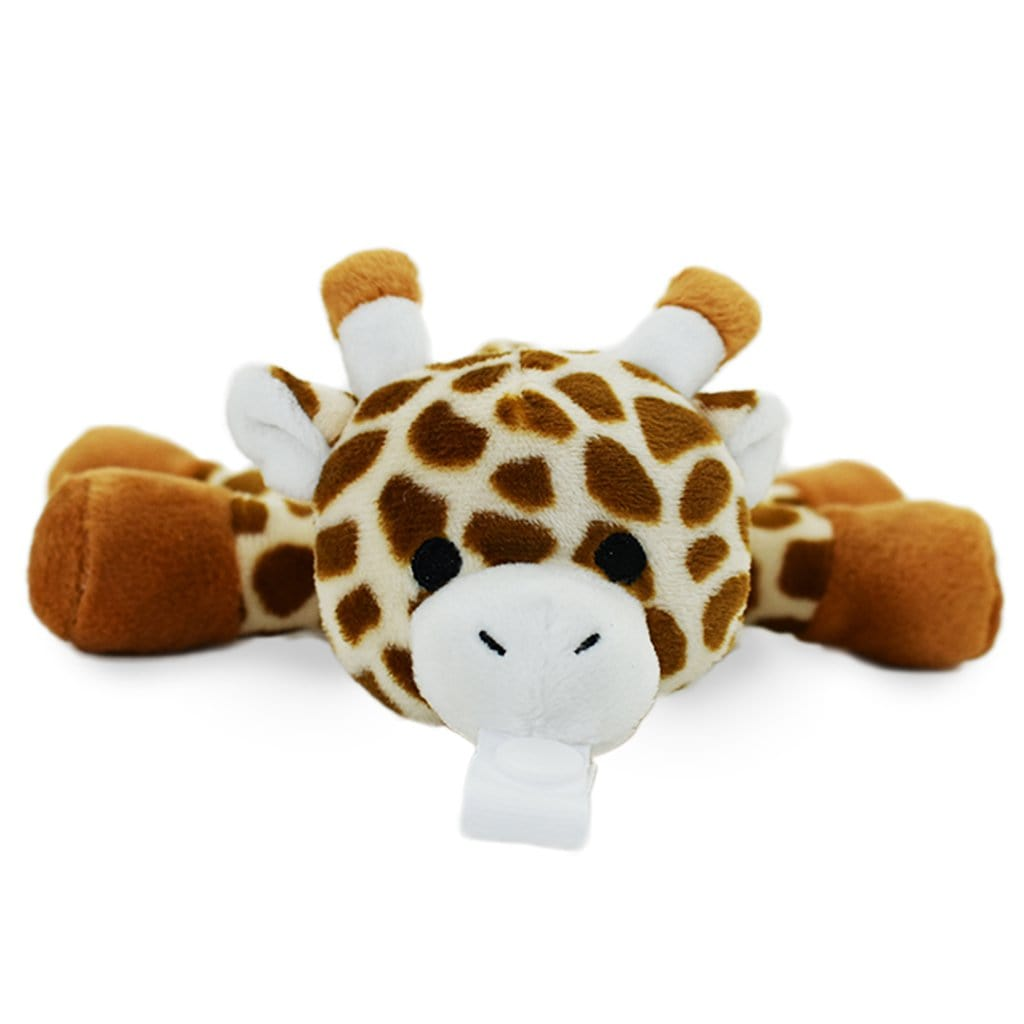 Giraffe Plush Pacifier Holder - Stuffed Animal Pacifier - KINREX LLC