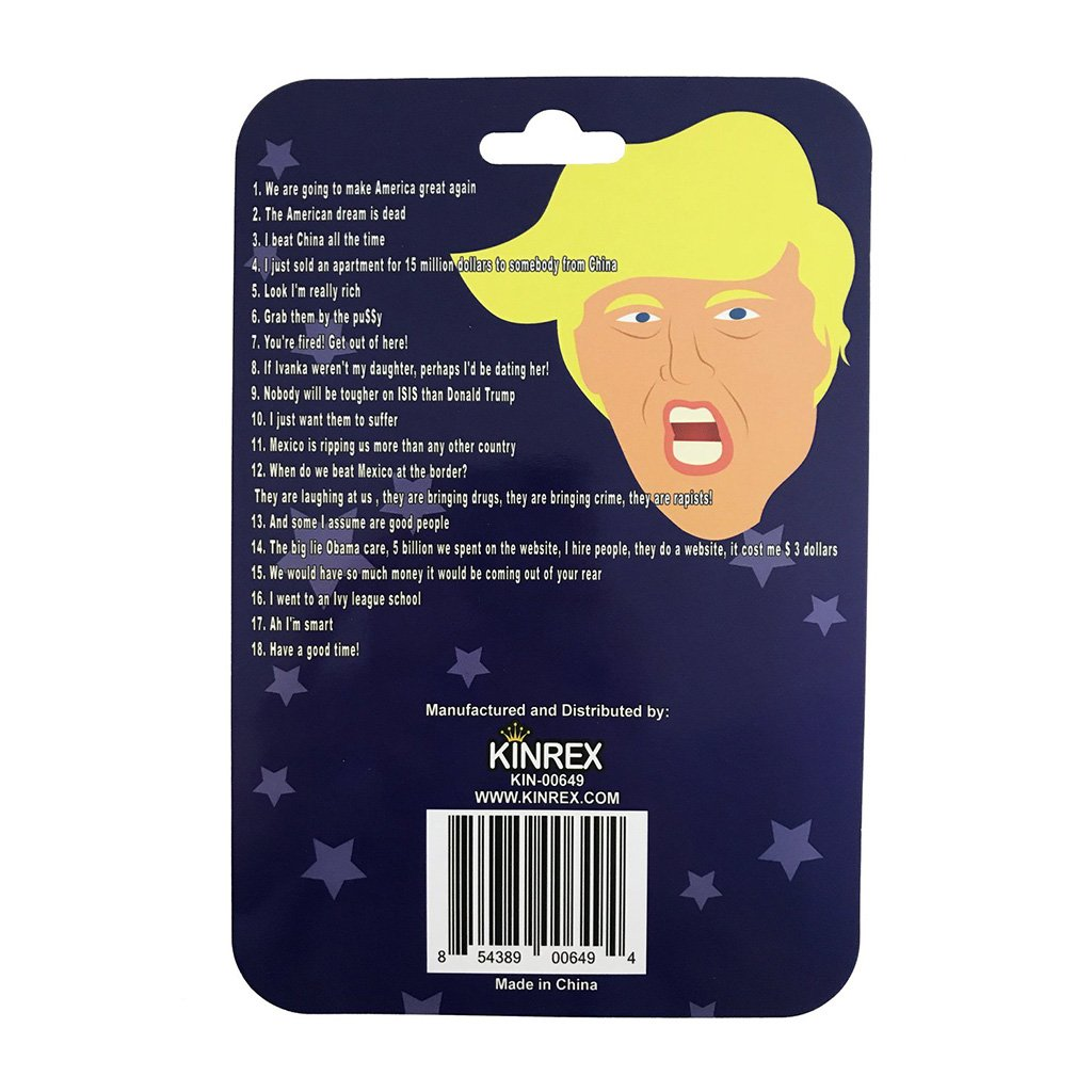 Trump Phrases Button - Funny Sounds Button - KINREX LLC