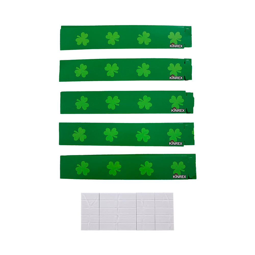 St. Patricks Day Craft Kit - 5 Irish Hats - 5 Shamrocks - 5 Headbands - 15 Pieces - KINREX LLC
