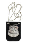 Police Badge Toy - Police Badge Holder With Chain And Black Belt Clip