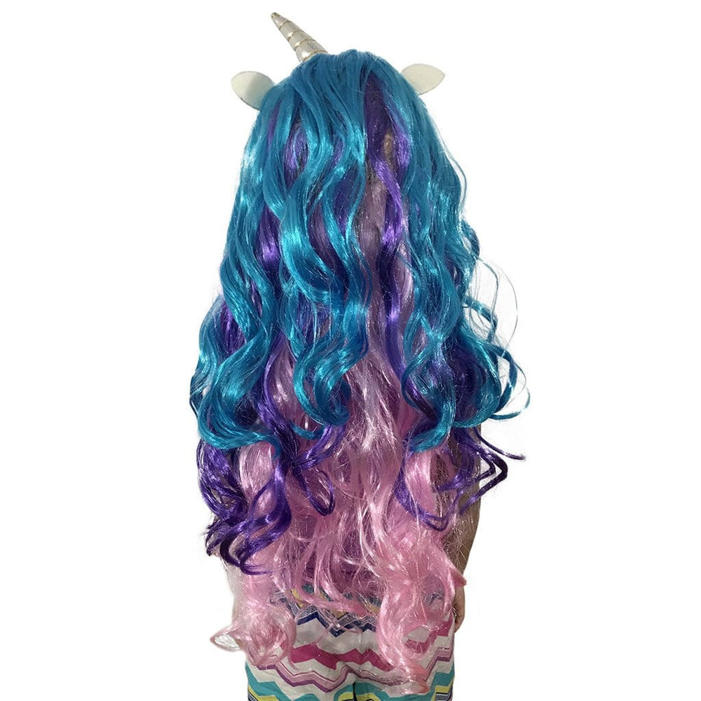 Unicorn Wig - Wig With Horn And Ears - Unicorn Wig For Kids, Teens And Adults - KINREX LLC