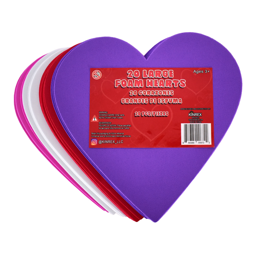 Foam Hearts - Valentine's Day Party Decorations - Heart Decorations - KINREX LLC