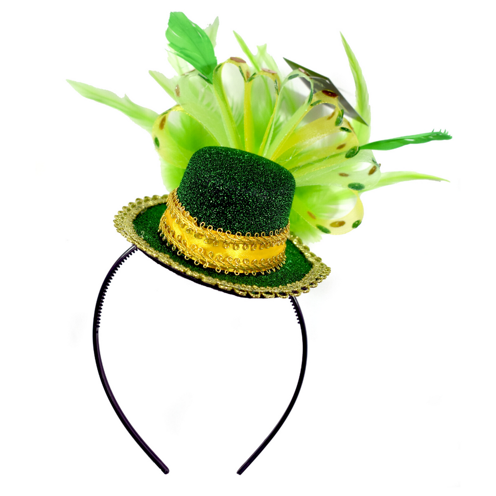 ST. Patricks Day Feathered Headband - KINREX LLC