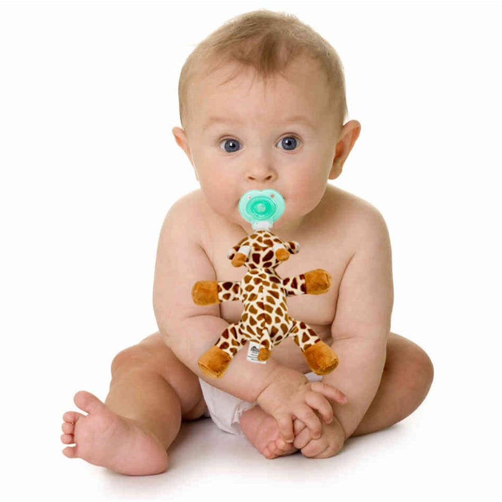 Giraffe Plush Pacifier Holder - Stuffed Animal Pacifier