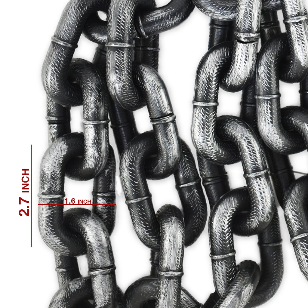 Plastic Chain - Halloween Plastic Chain - Grey And Black Chain