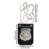 Police Badge Holder Toy with Chain and Black Belt Clip