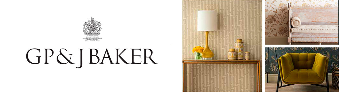 GP & J Baker Fabrics, a selection of fabrics such as velvet, damask, cotton, silk, linen and sheers.