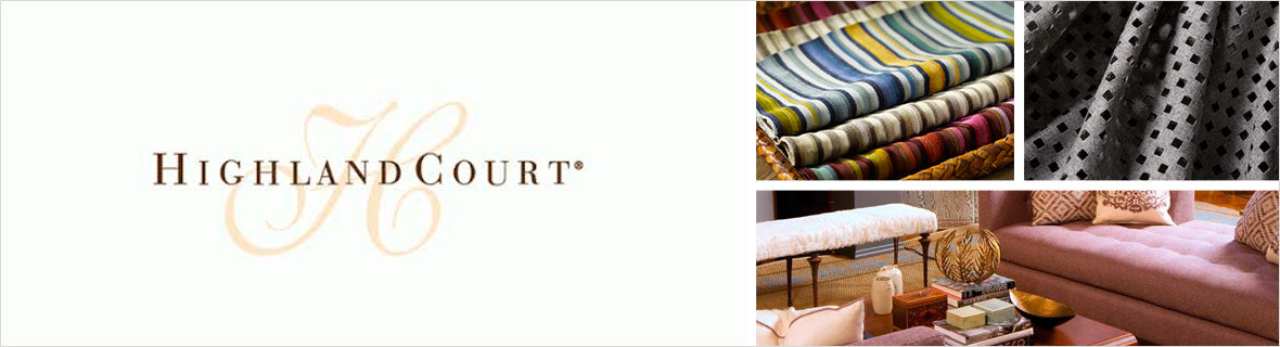 Highland Court Fabrics, a selection of fabrics such as velvet, damask, cotton, silk, linen and sheers.
