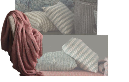 wool throws and pillows