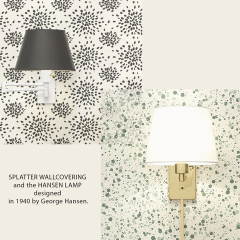 George Hansen Splatter Wallcovering and Lamp