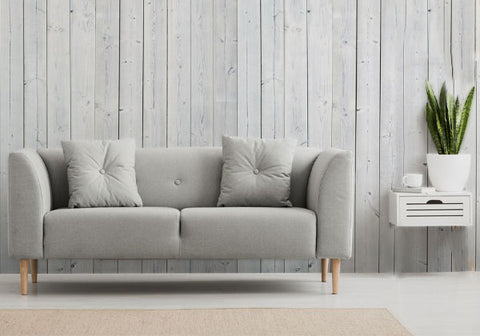 white wall with furniture