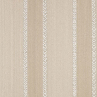 Schumacher Wallcovering - 203860-Bayberry Stripe - Fawn